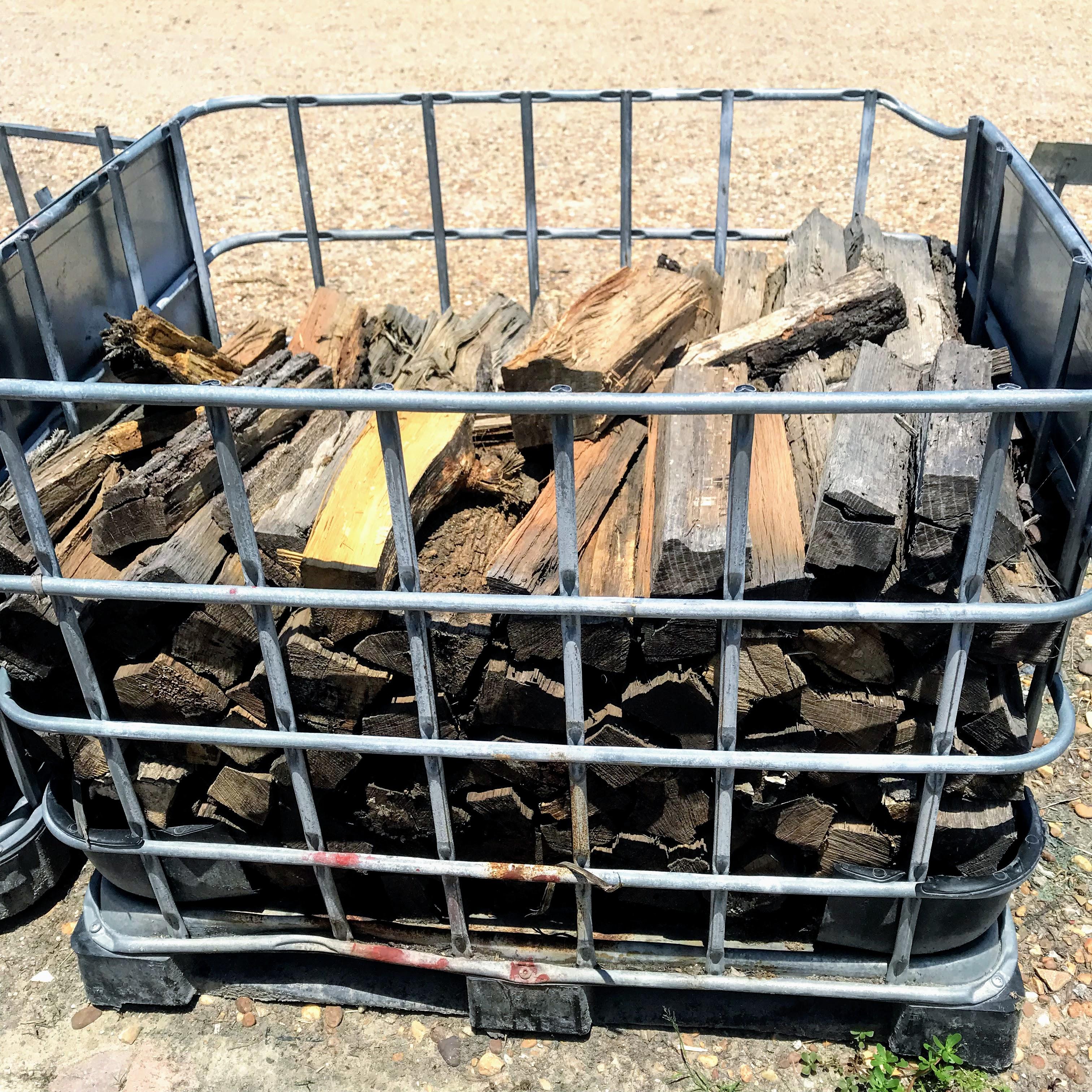 bin of wood
