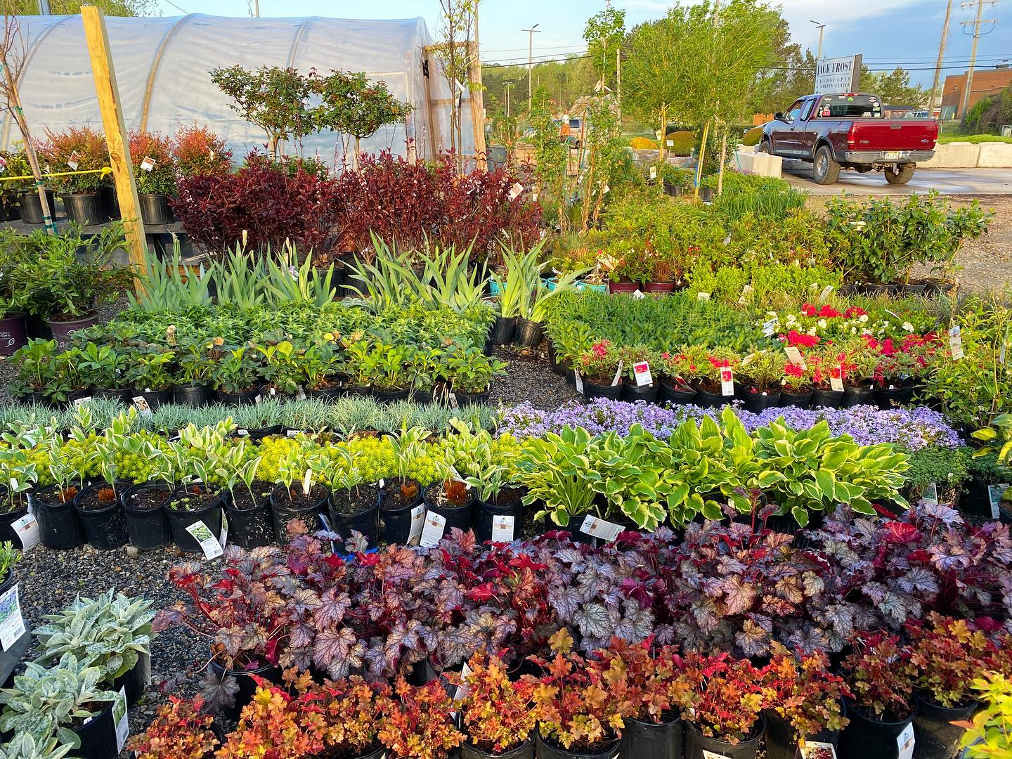 big delivery at Jack Frost Garden Center
